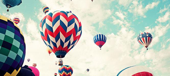 Lety balónem z Benešova