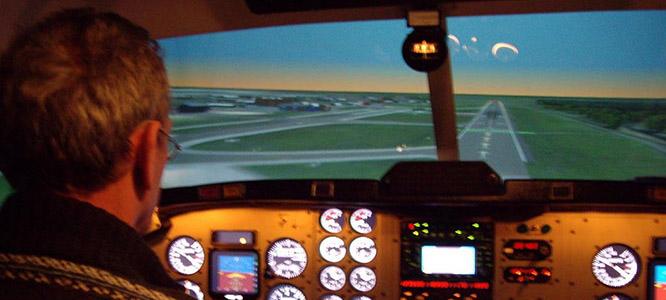 Profesionální letecký simulátor letadla