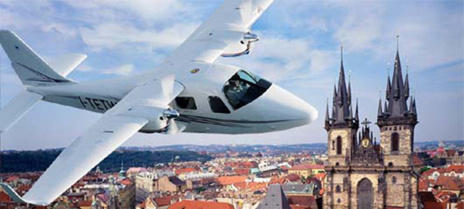 Nabídka vyhlídkových letů na letišti Benešov