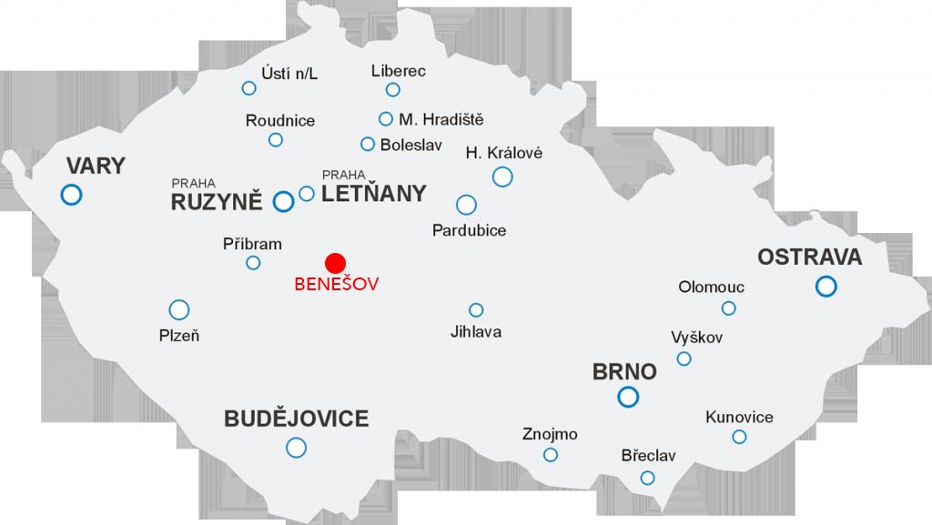 Odlety Aerotaxi z letiště Benešov